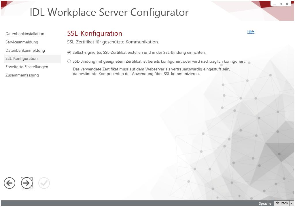 SSL Konfiguration